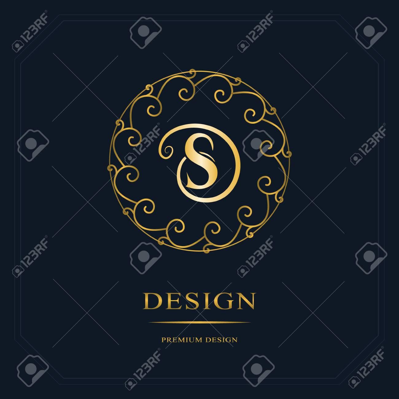 Round line graphics monogram elegant art logo design letter round line graphics monogram elegant art logo design letter s graceful template wajeb Images