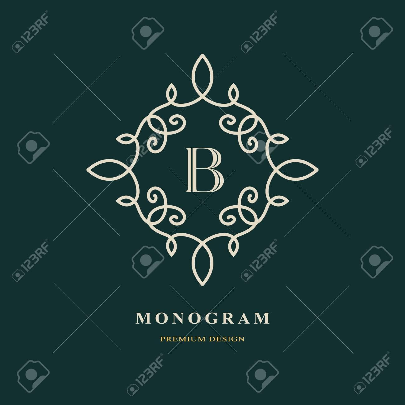 Elegant Letter B. Graceful Style. Calligraphic Beautiful Logo ...