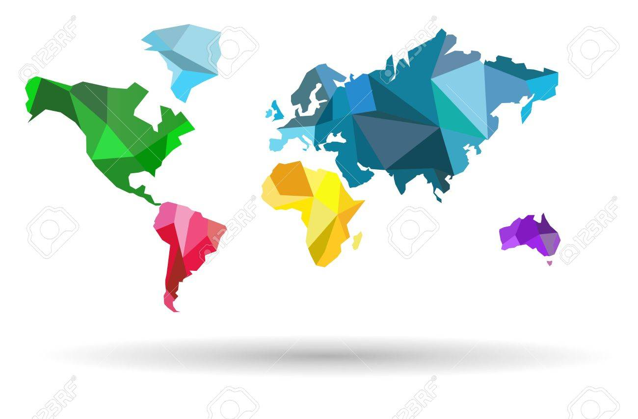 World map countries colofful on the white background royalty free vector world map countries colofful on the white background gumiabroncs Choice Image