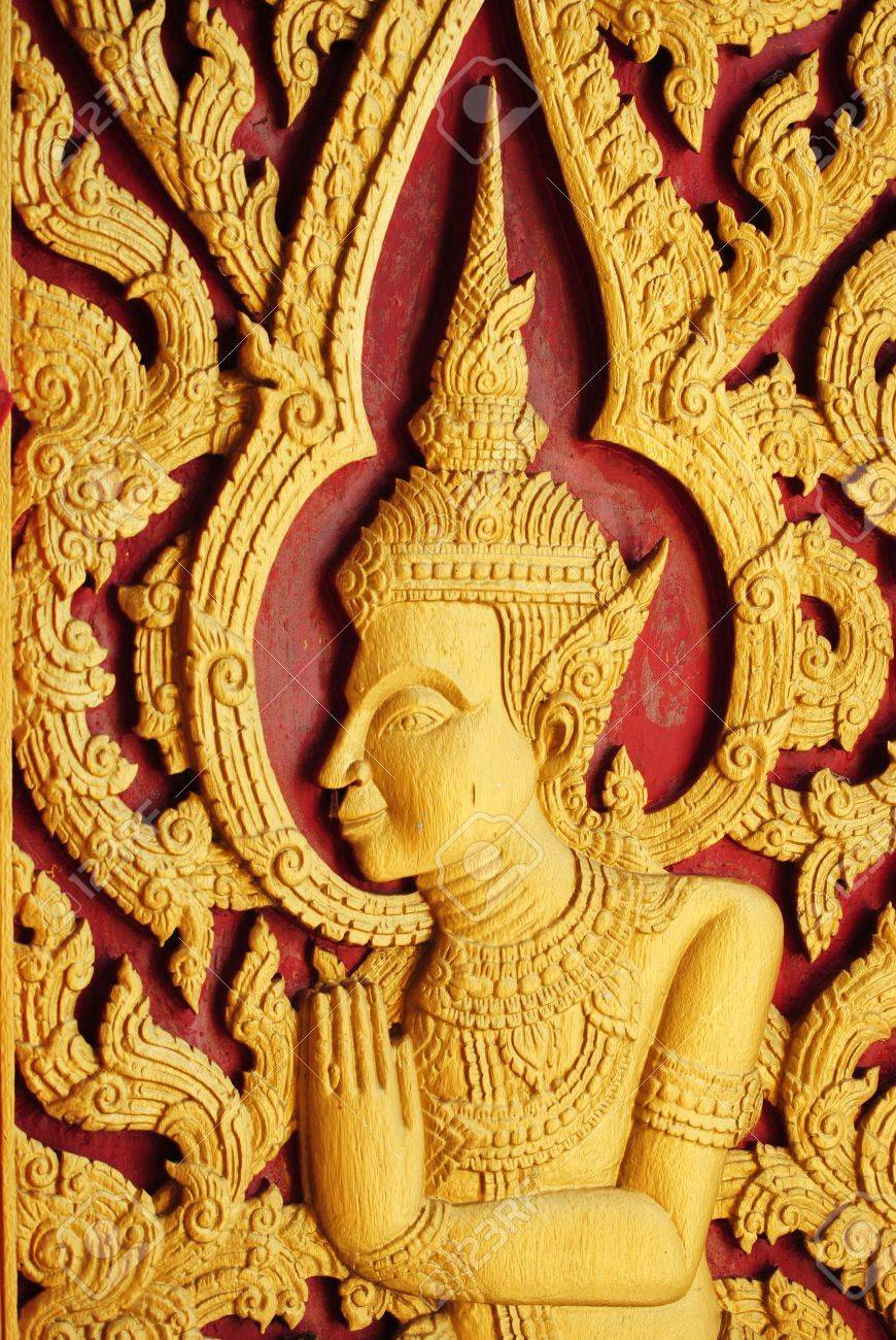 Thai carved Stock Photo - 12622122