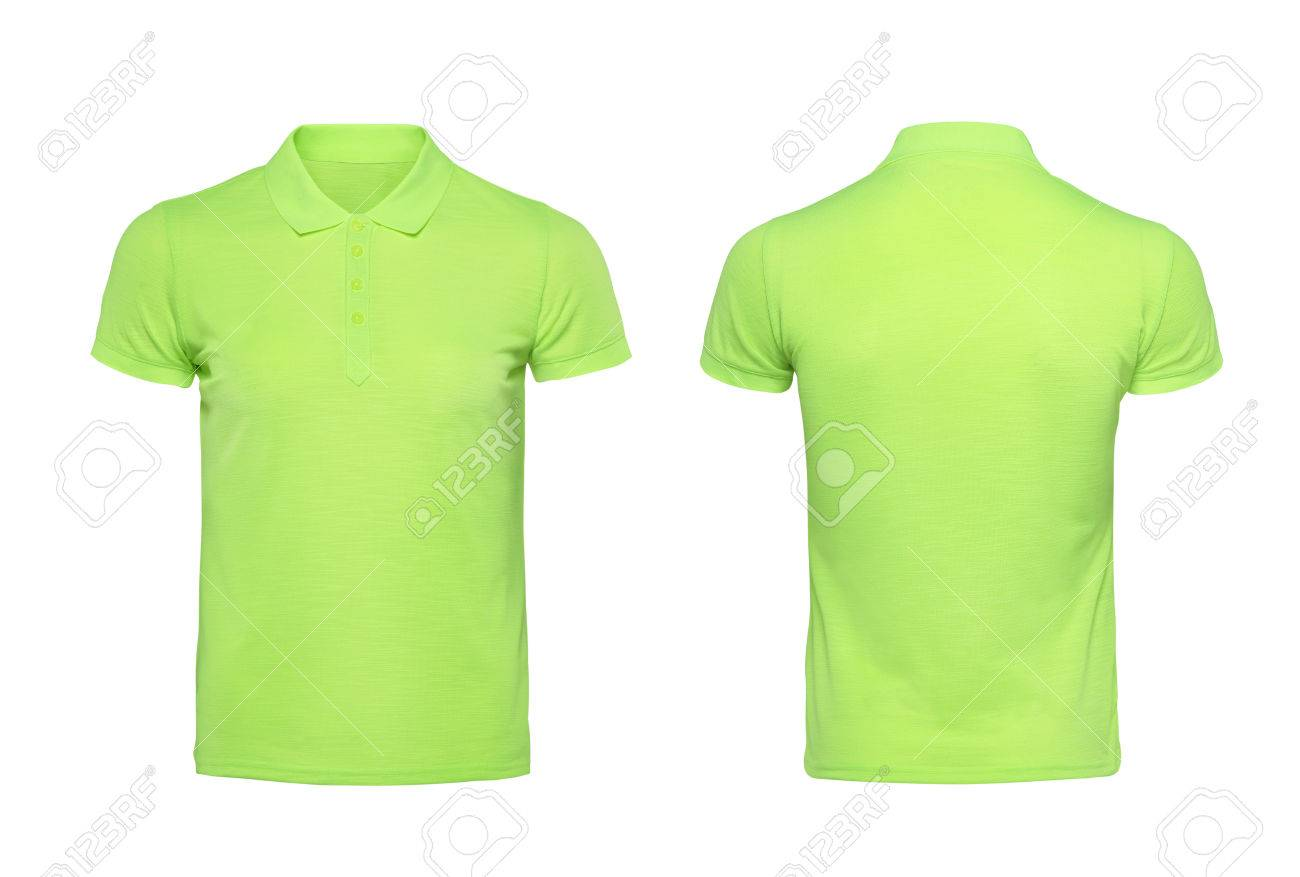 Green Polo Tshirt Design Template Isolated On White With Clipping