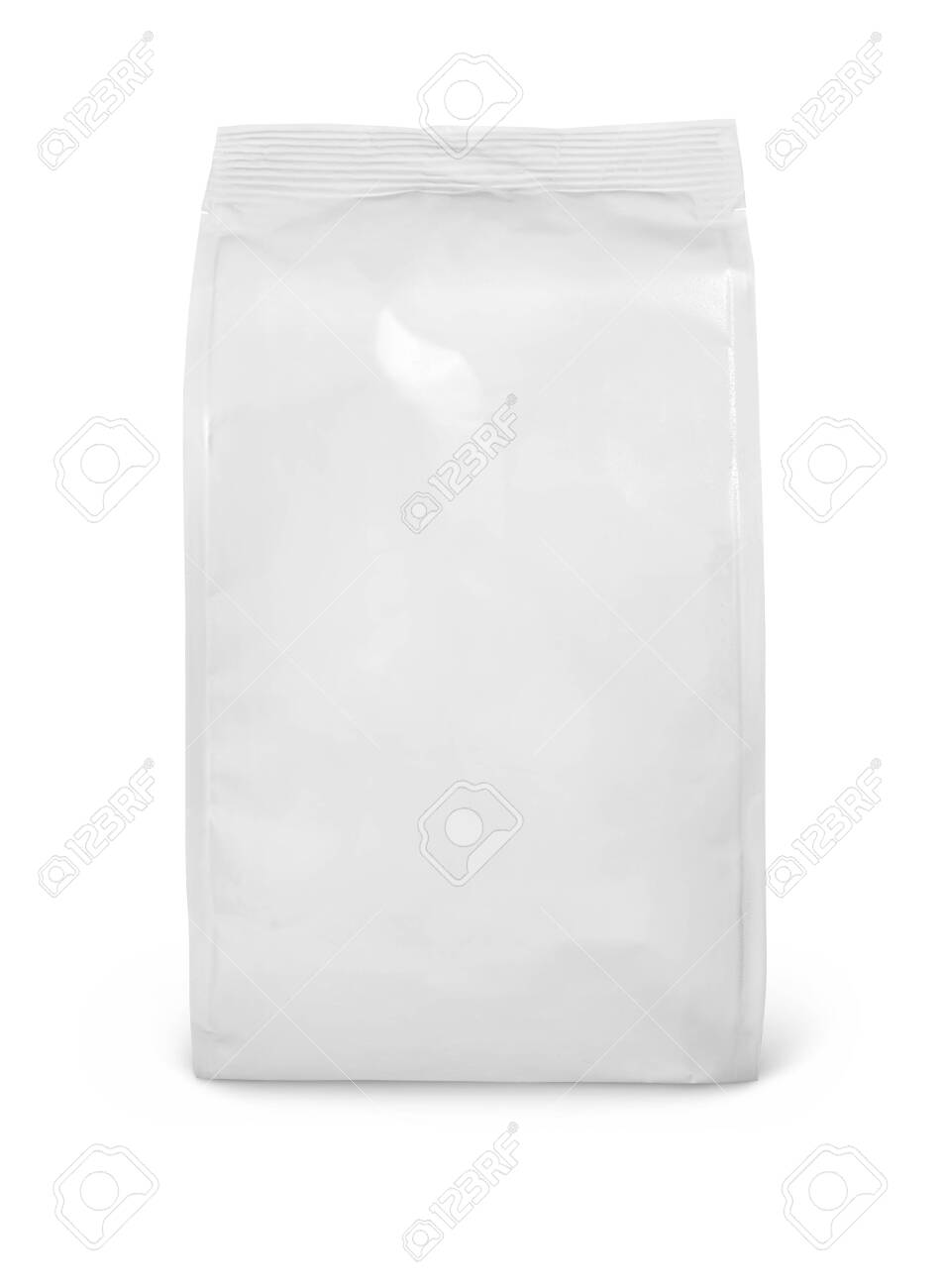 Front view of blank snack paper bag package isolated on white - 130110454