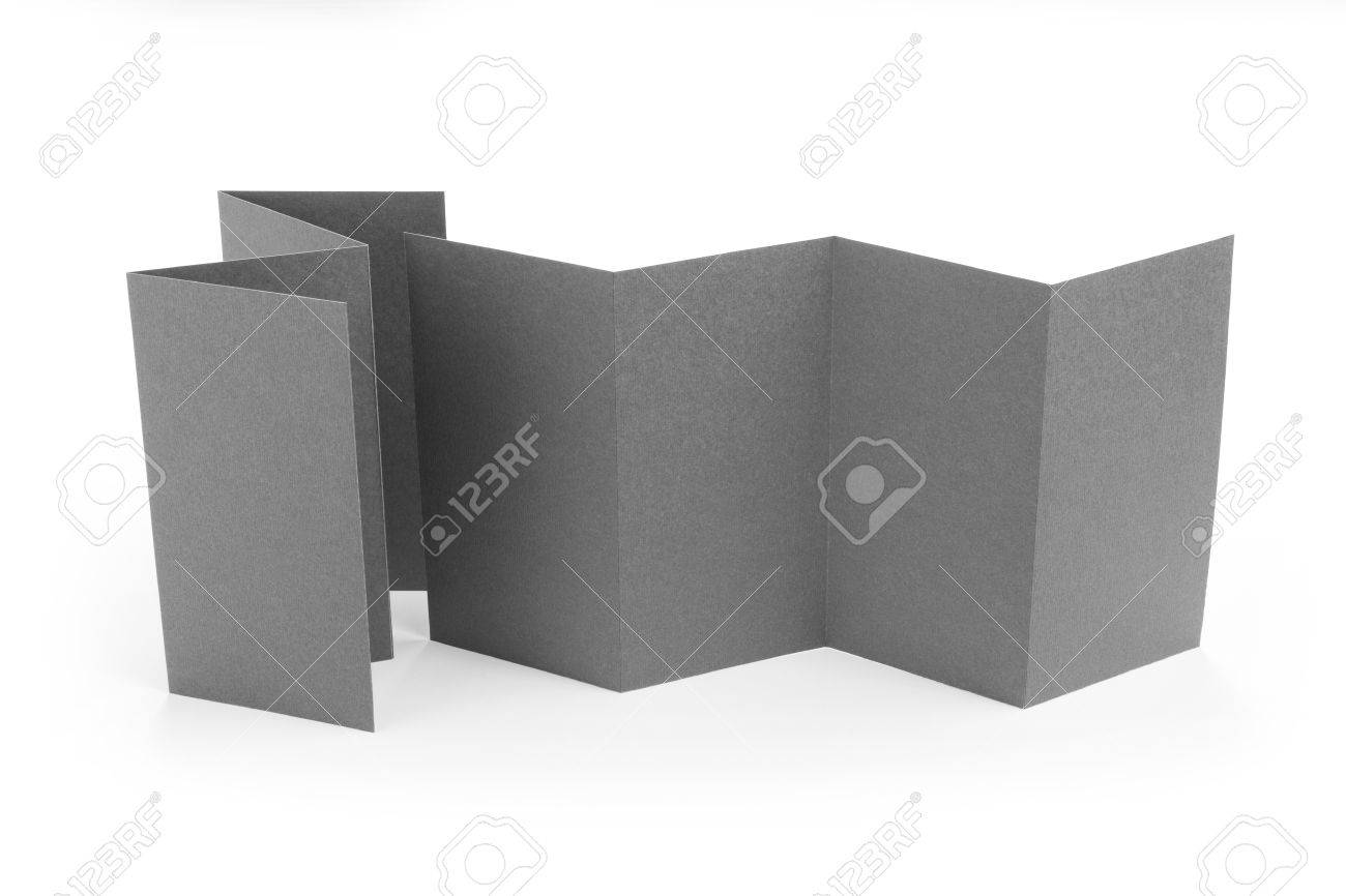 Blank Gefaltete Papier Broschüre Oder Flyer Mockup Lizenzfreie Fotos ...