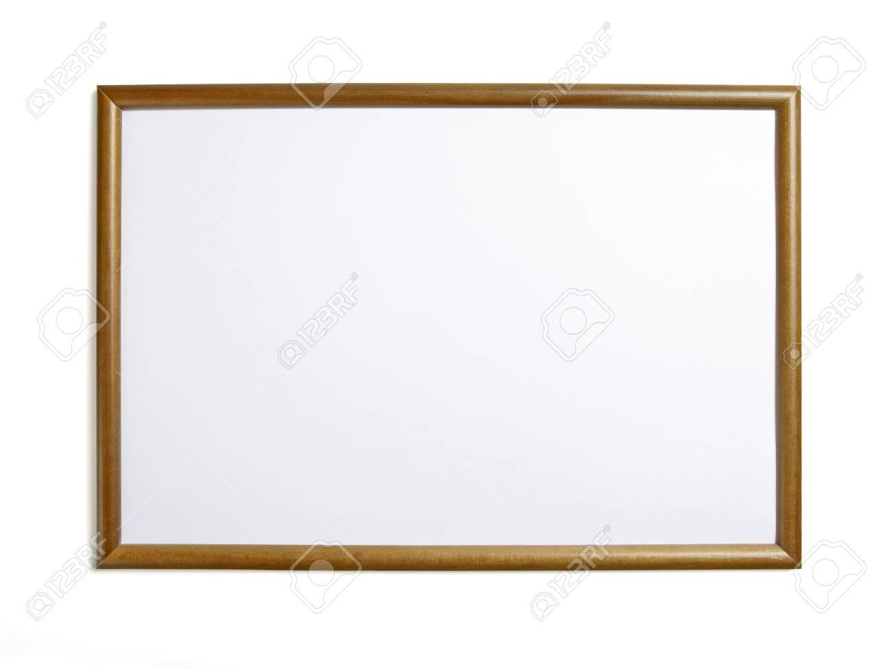 Marco De Madera Para Pintar O Imagen Sobre Fondo Blanco Fotos ...
