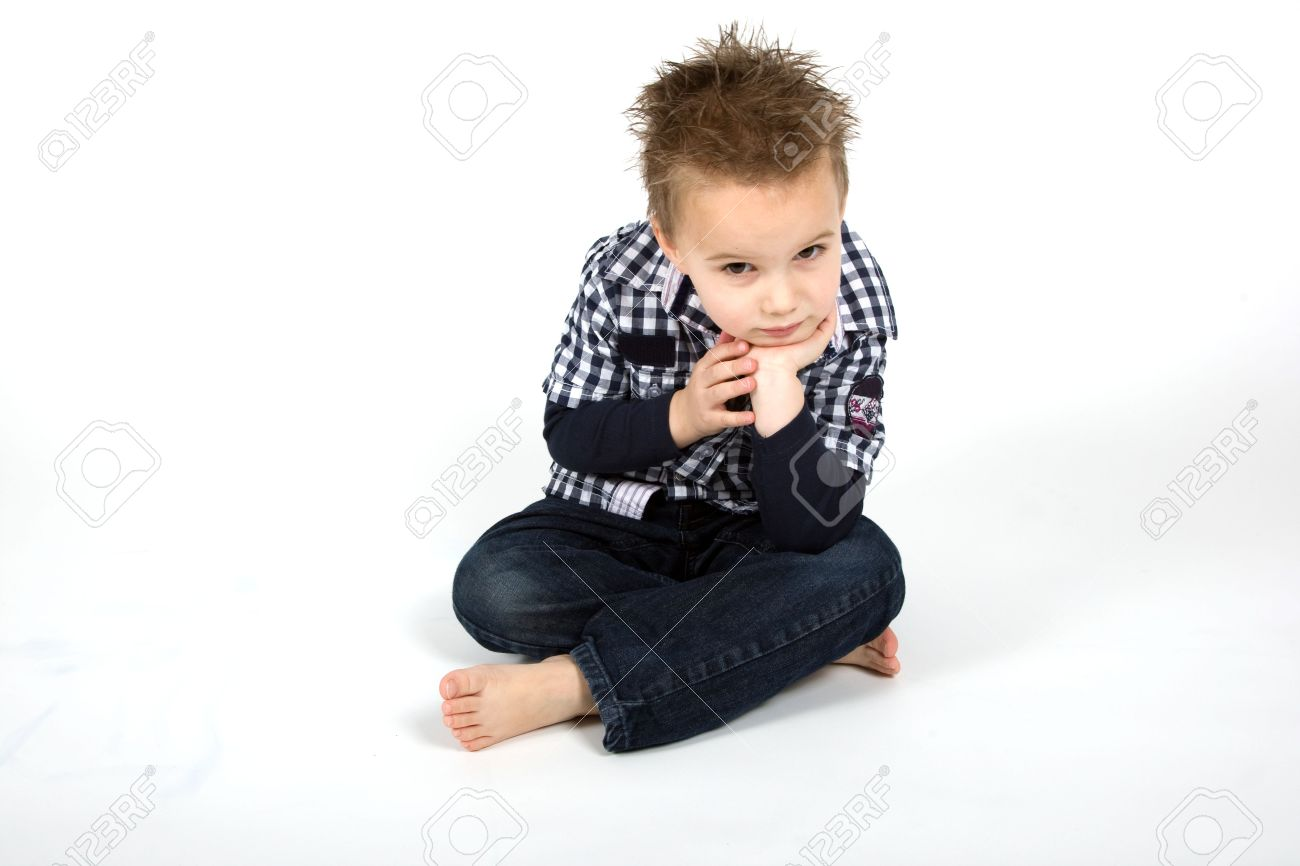 Young boy is looking disappointed. Stock Photo - 6471092