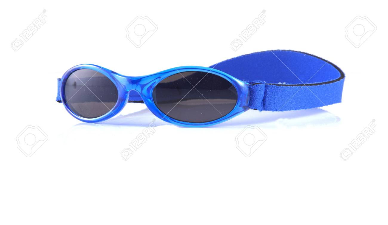 Blue sunglasses on a white background. Stock Photo - 10401836