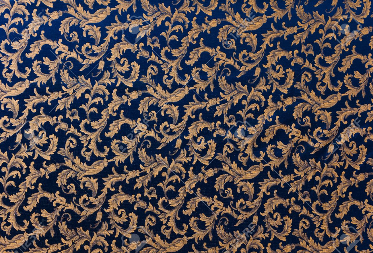 Abstract Background Of A Heavy Deep Blue Brocade Fabric With Stock Photo Picture And Royalty Free Image Image 12301766