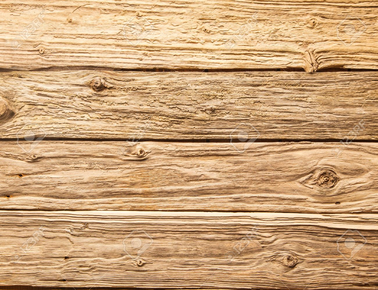 horizontal wood background. Rustic Background Of Very Rough Textured Weathered Wooden Planks With Knots In A Horizontal Parallel Pattern Wood