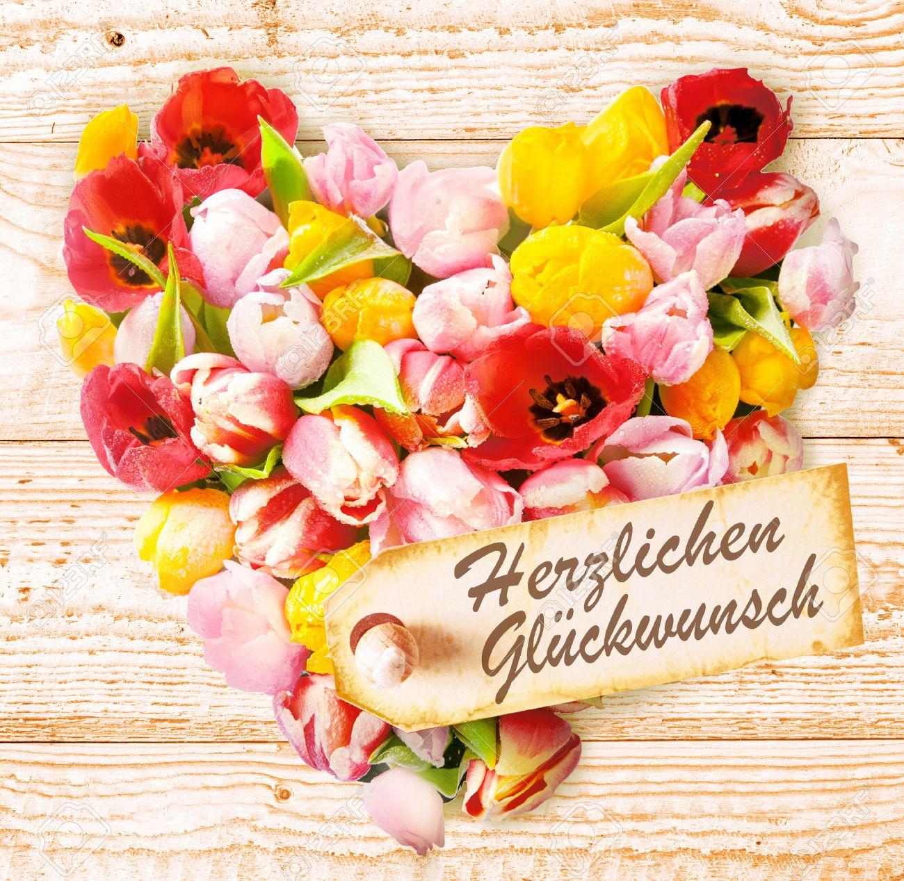 Célèbre Auguri Di Compleanno Tedeschi Su Un Cuore Floreale Colorato  KL49