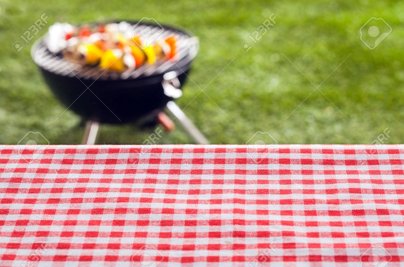 Picnic Table Background empty picnic table background covered in a fresh country red