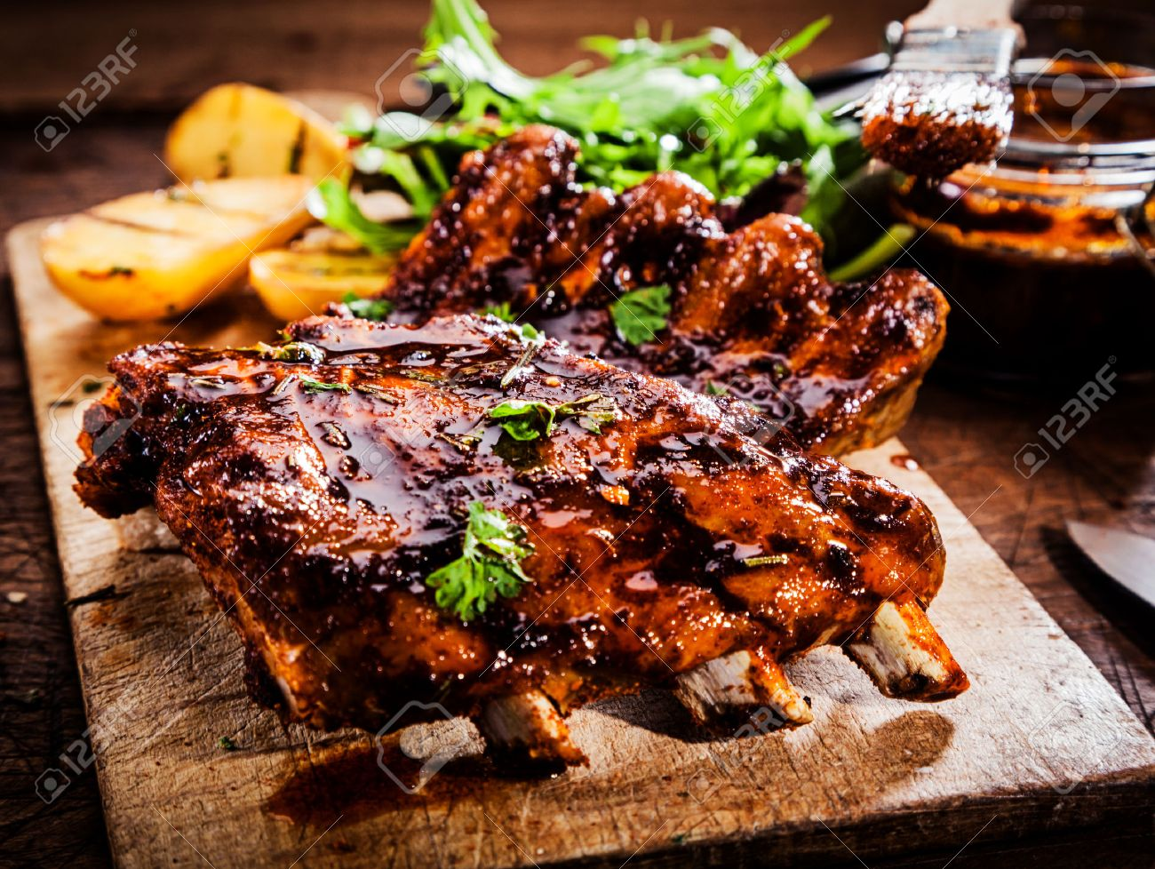 foto BBQ Ribs with Mopping Sauce