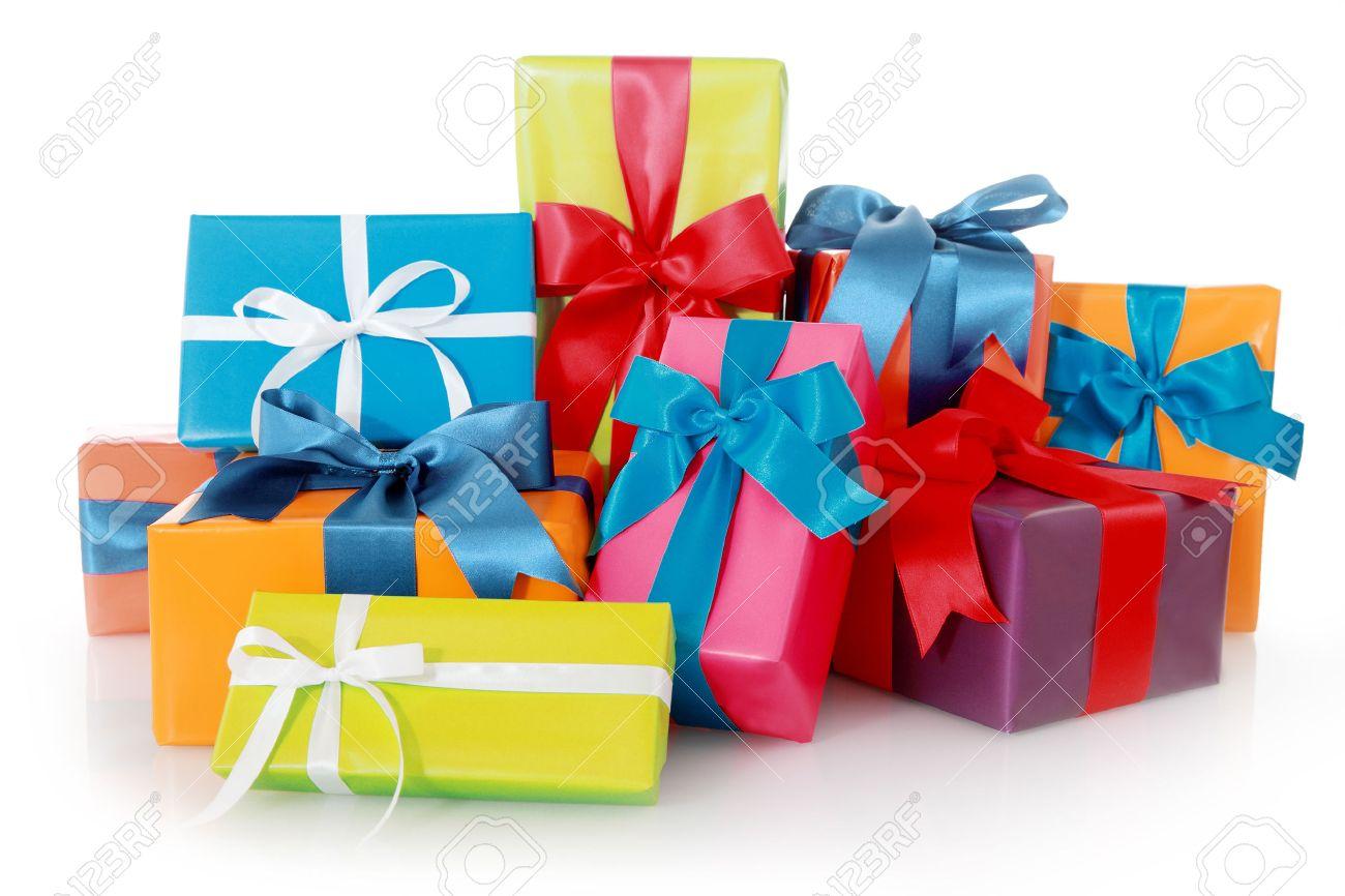 Plenty Farbig Sortierte Geschenke Für Geburtstage Oder Weihnachten ...
