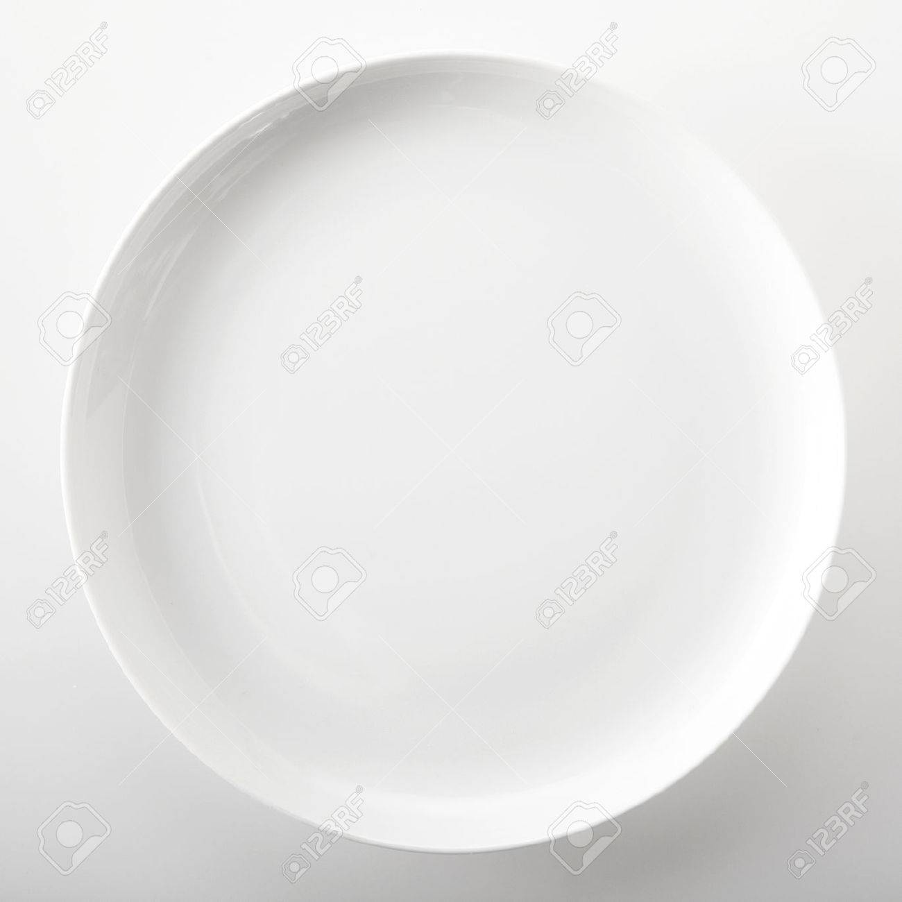 Empty plain white round generic dinner plate with place for placement of food or a recipe & Empty Plain White Round Generic Dinner Plate With Place For ...