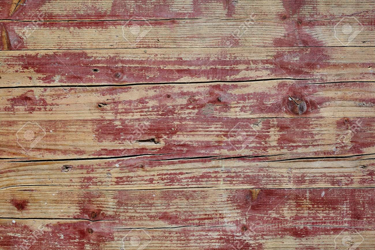 Old Grunge Weathered Rustic Wooden Table Background Texture With Cracked  Boards And Weatherworn Paint, Full