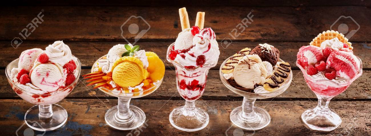 Completely new Colorful Speciality Fresh Tropical Fruit And Ice-cream Parfait  OF04
