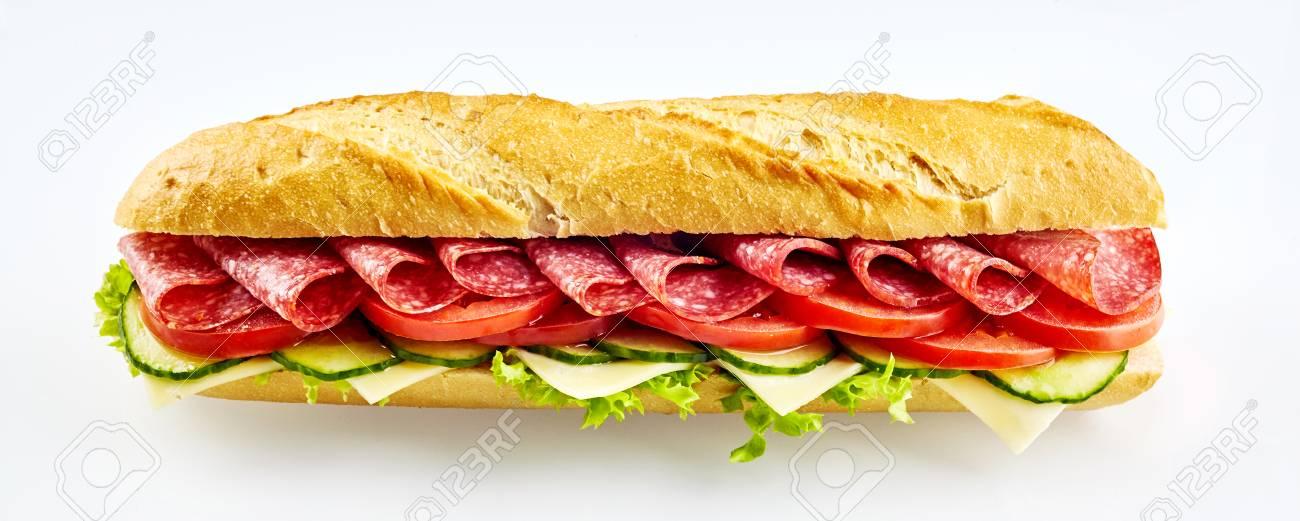 Bilderesultat for baguette med salami