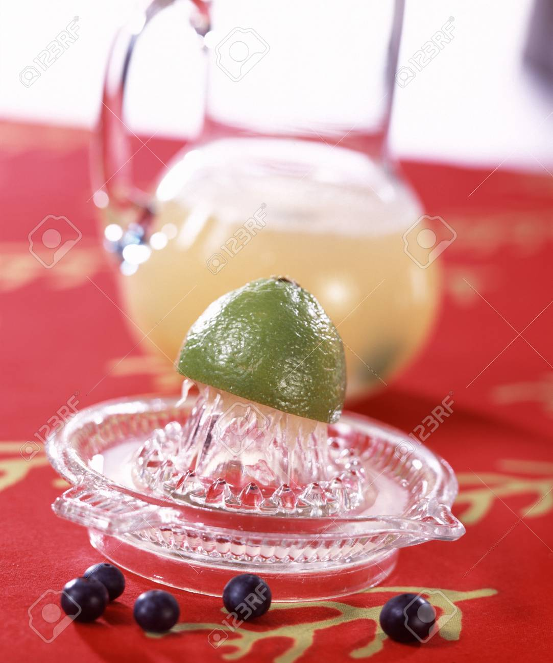 Lemonade with blueberries Stock Photo - 17026199