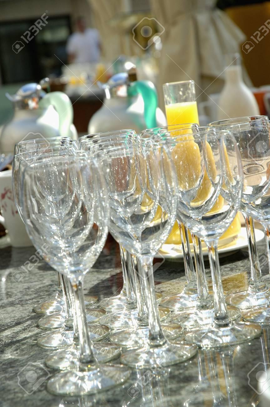 Empty stem glasses Stock Photo - 17026736