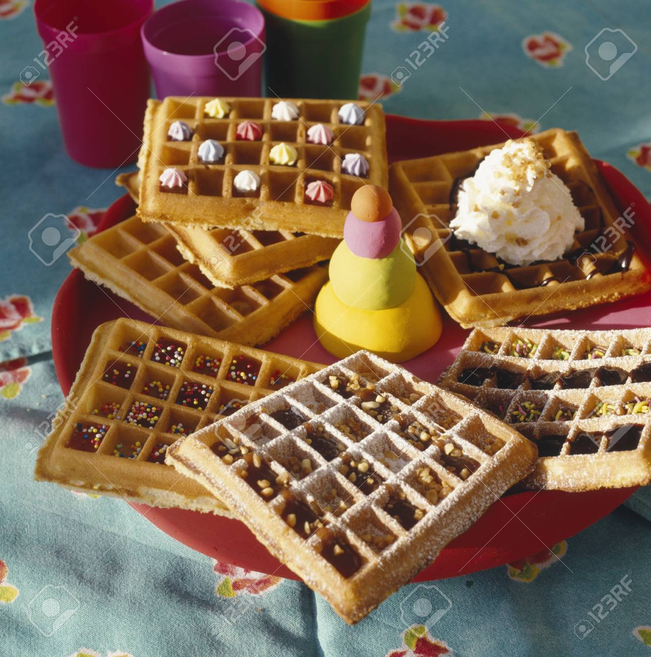 Assorted game waffles Stock Photo - 17027611