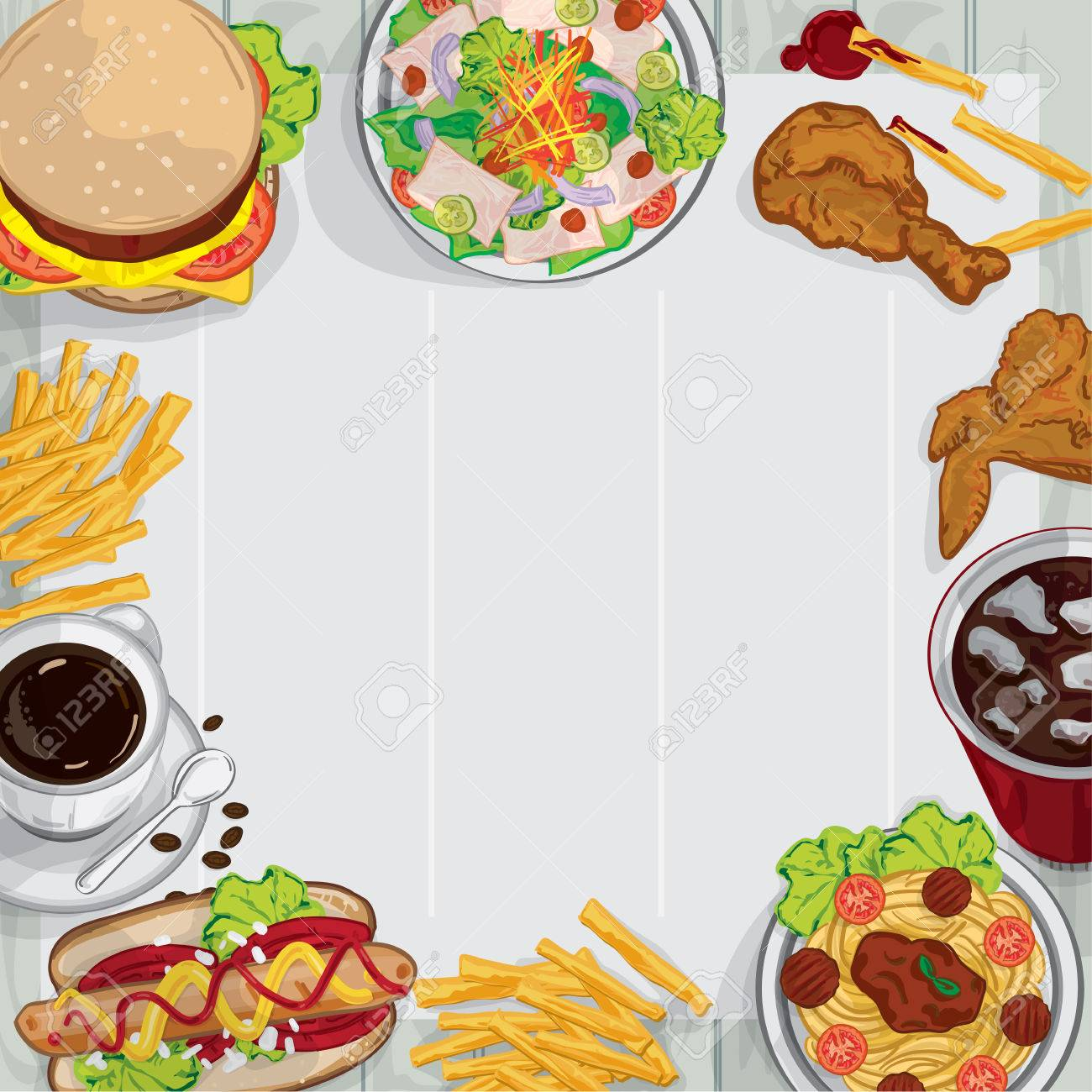 Menu food drawing graphic design illustrate objects template
