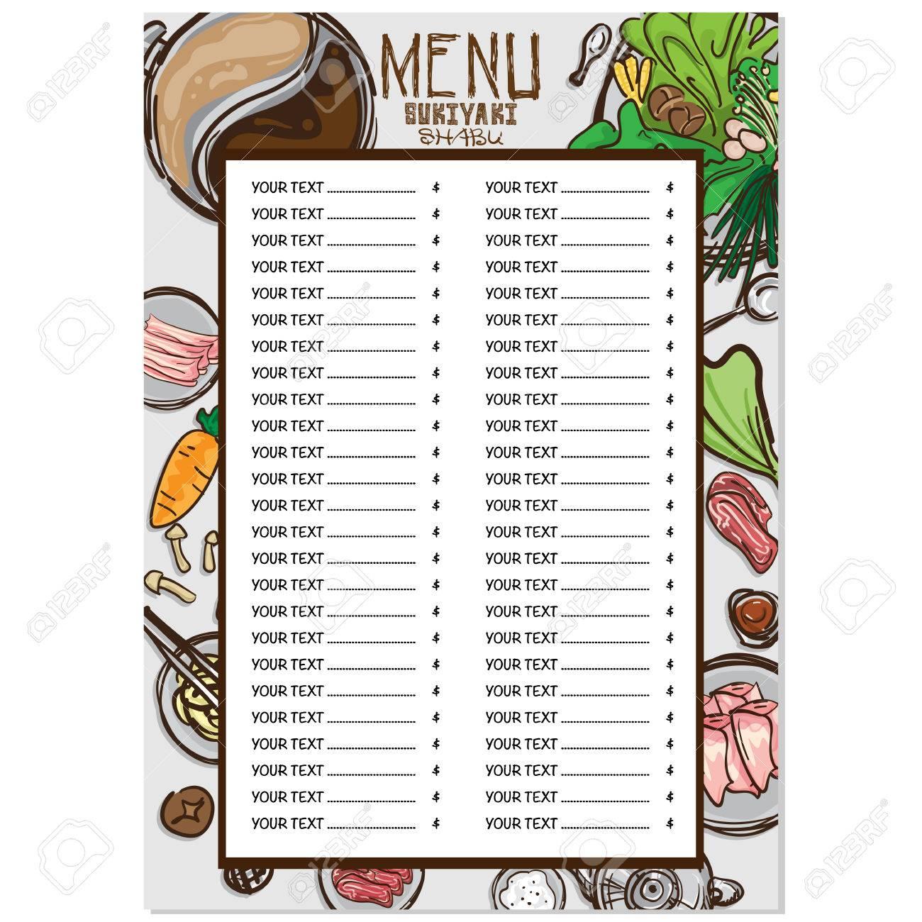 Schön Menü Restaurant Vorlage Zeitgenössisch - Beispiel Anschreiben ...
