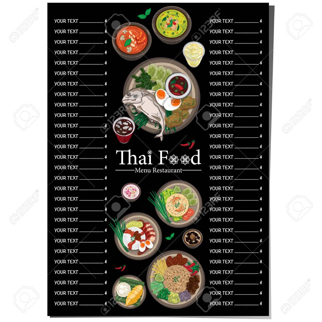 Thai Food Menu Design Template Royalty Free Cliparts Vectors And