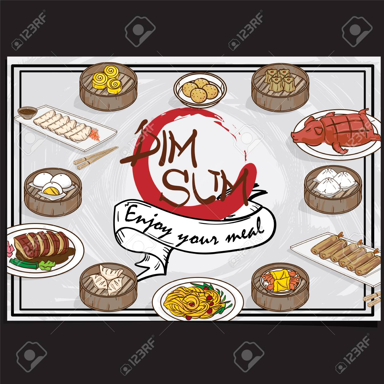 Chinese Food Menu Design Template Graphic Royalty Free Cliparts Vectors And Stock Illustration Image 96360260