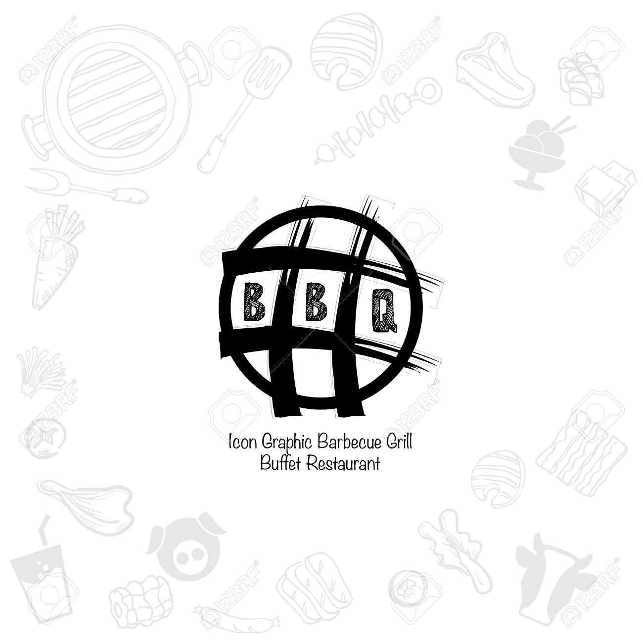 Barbecue Grill Logo Icon Graphic Buffet Restaurant