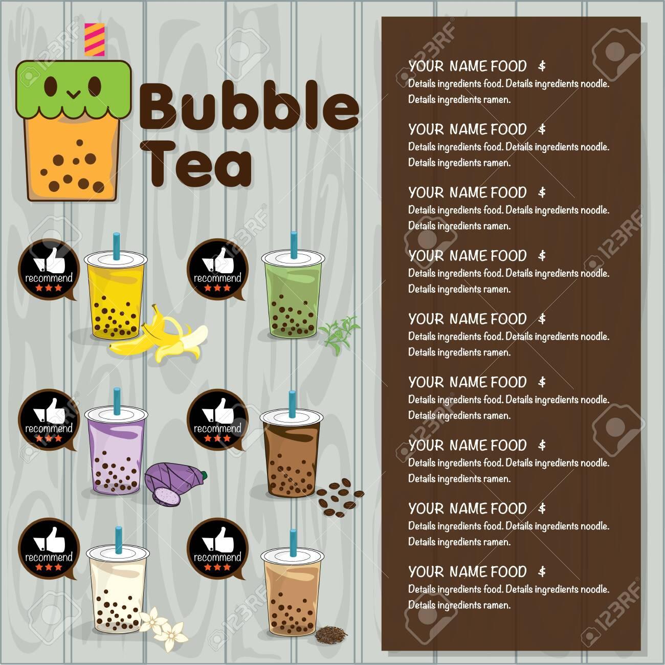 bubble tea menu graphic template - 125666373