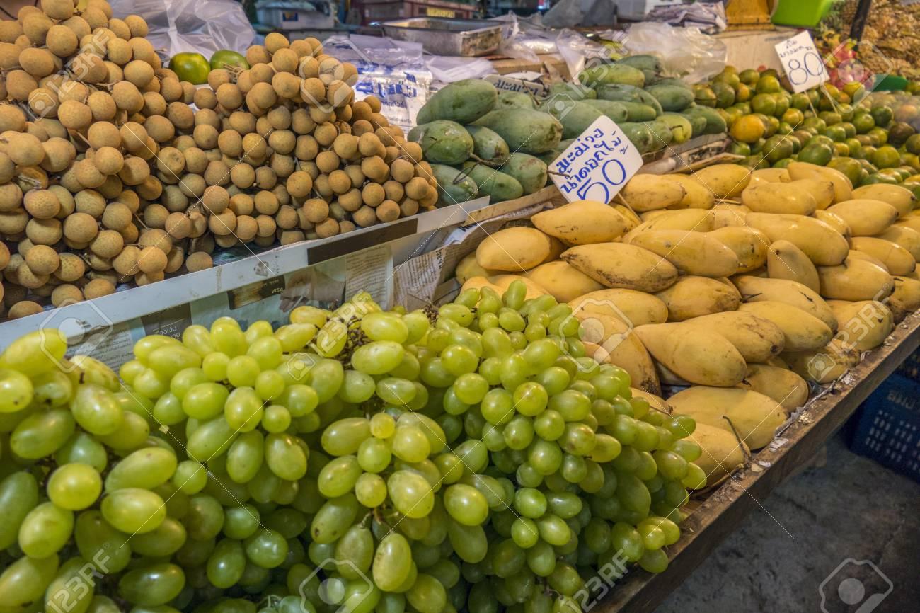 Fresh Fruits On A Market In Krabi Province Krabi Thailand