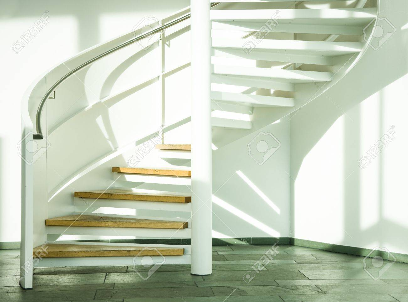 spiral staircase at a modern office building Stock Photo - 18155330