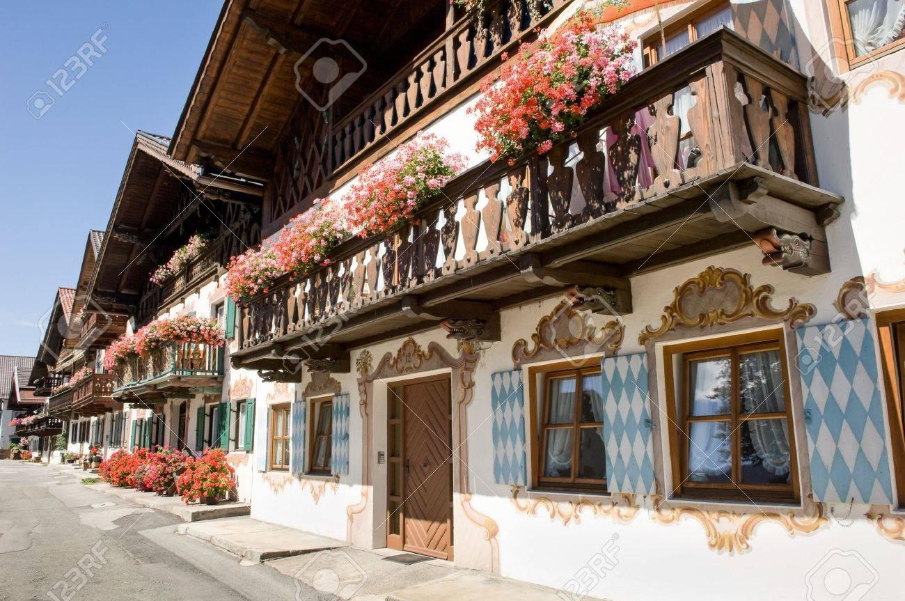 old town at garmisch partenkirchen - germany - bavaria - 18408338