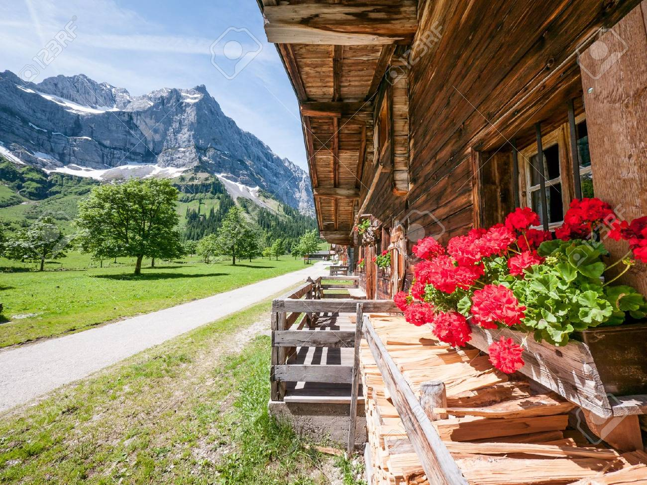 old farmhouse at the karwendel mountain - austria - 18714144
