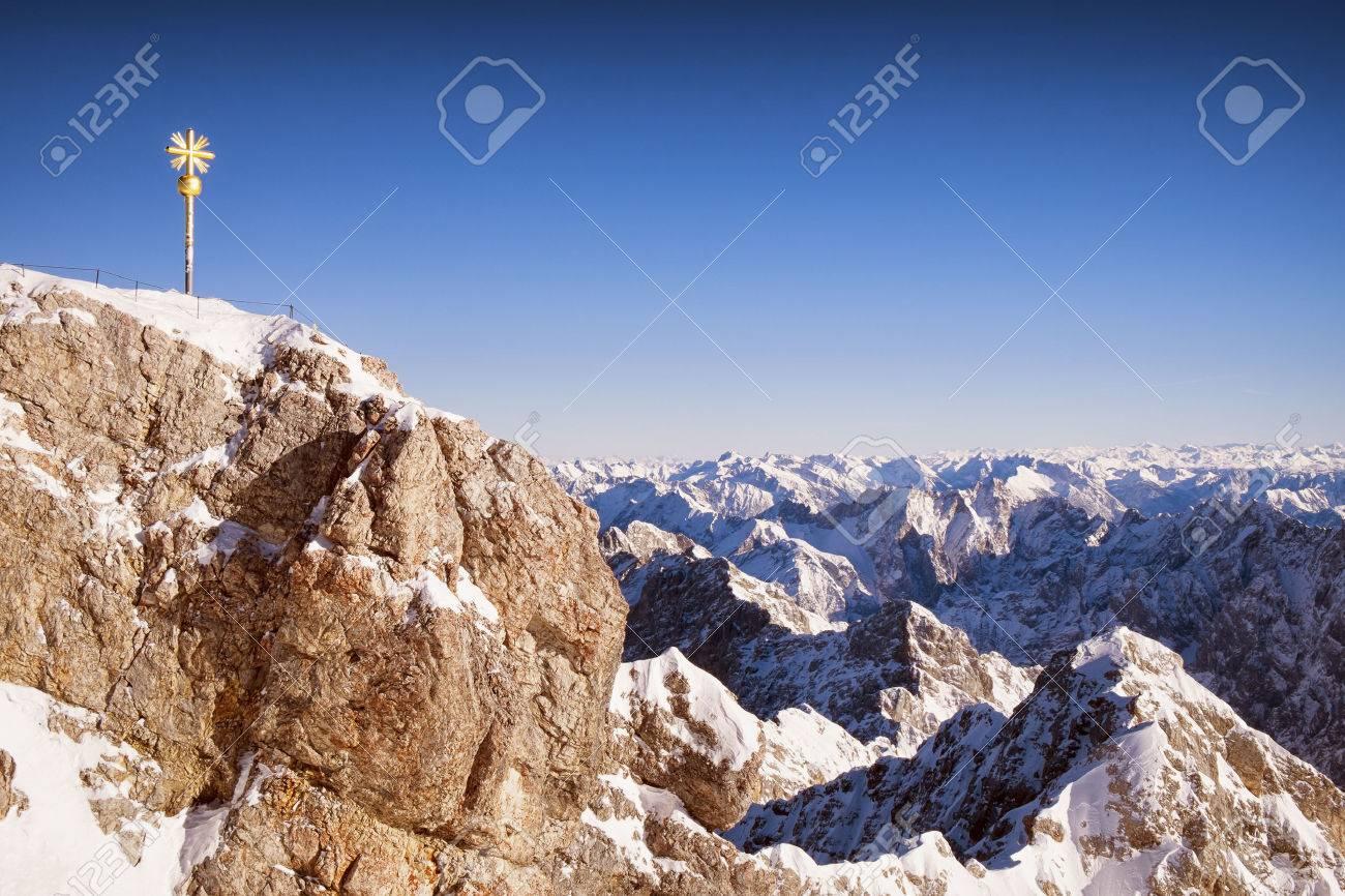 european alps in winter - zugspitze - 24980743