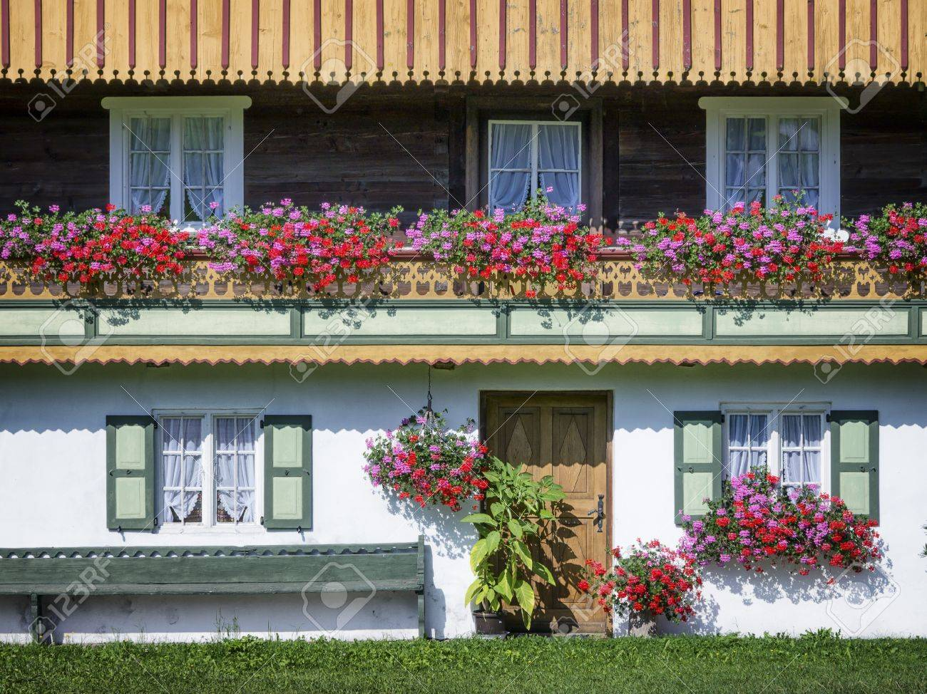 typical old farmhouse at the european alps - 25241340