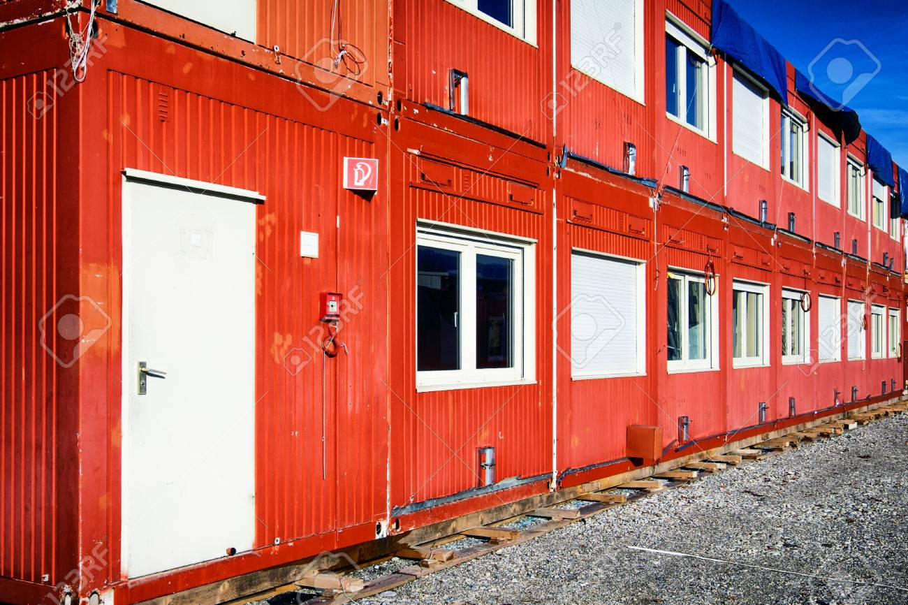 new red mobile home container - 34190055