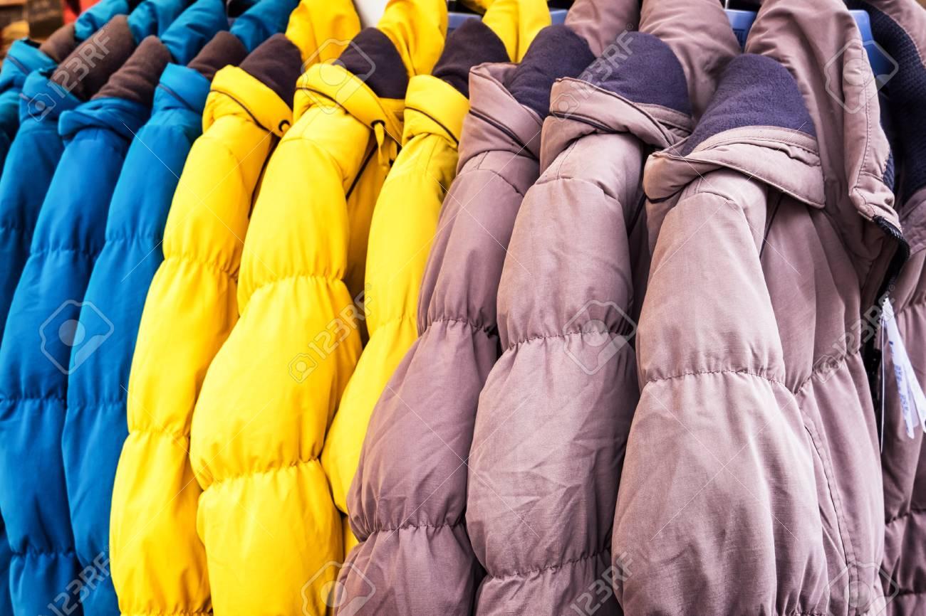 row of winter jackets - photo - 37969575