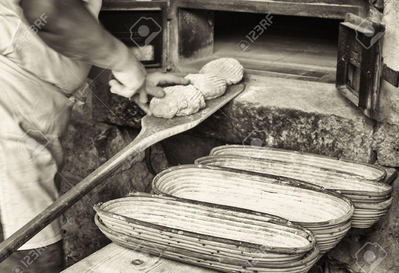 making bread - vintage - old bakery - 50236761