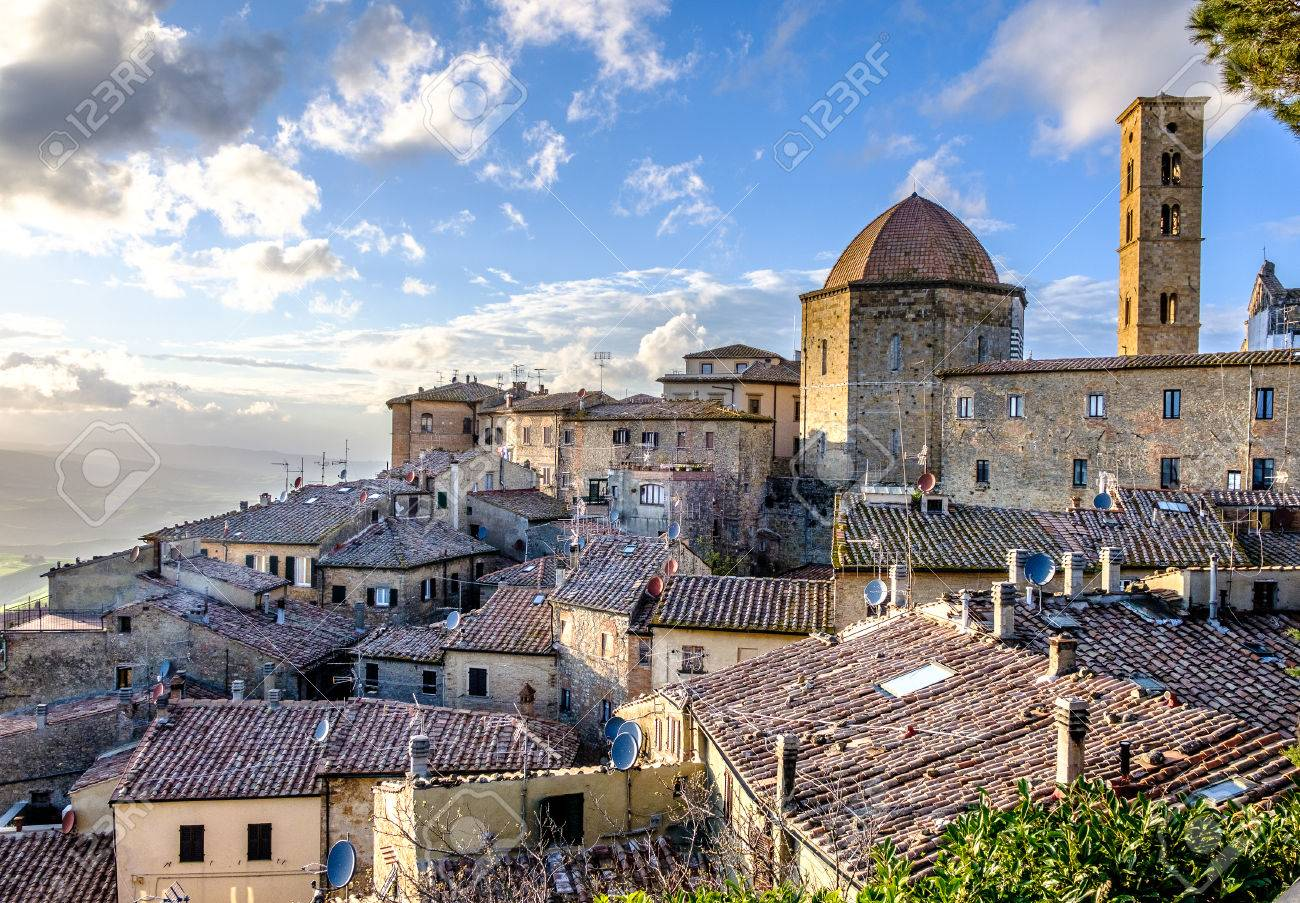 old town of volterra - 79453653
