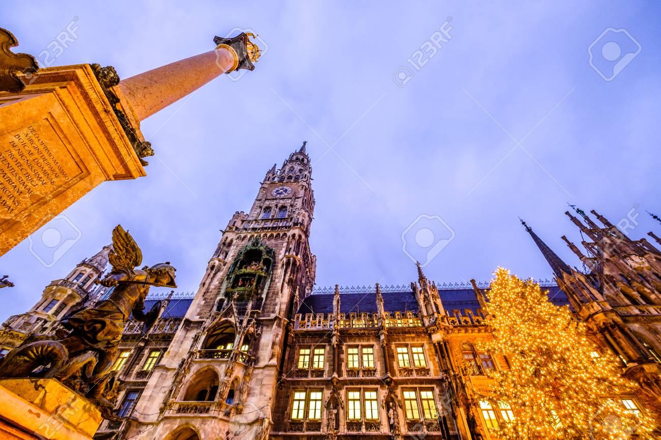 Munich Germany Christmas.Christmas Market In Munich Germany