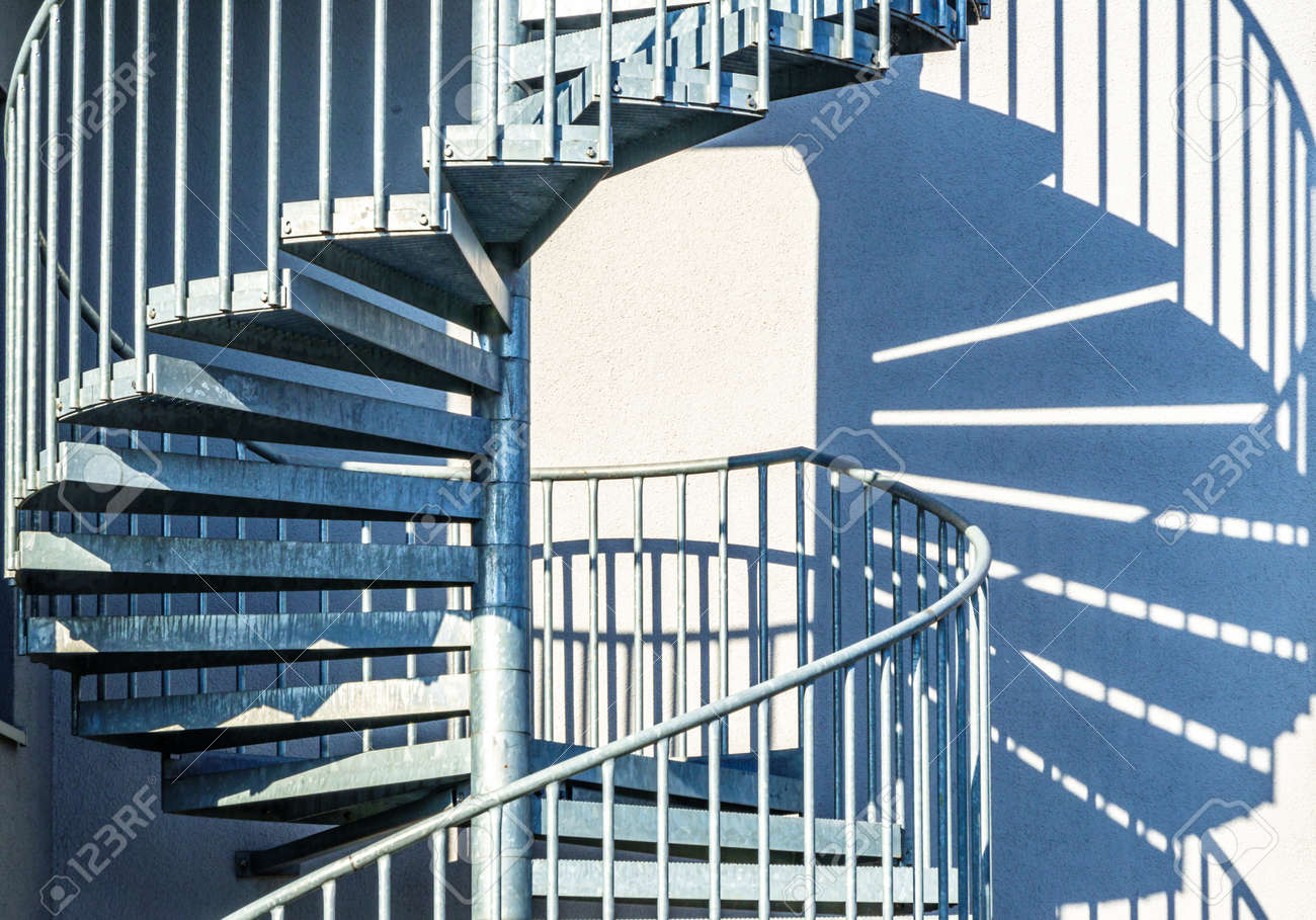 spiral staircase at a building - photo - 168741242