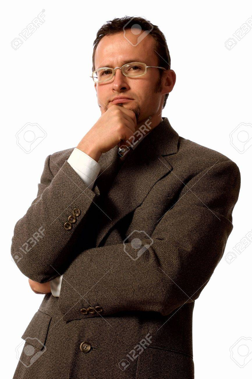 Young handsome  man making  serious gesture. Stock Photo - 2180101