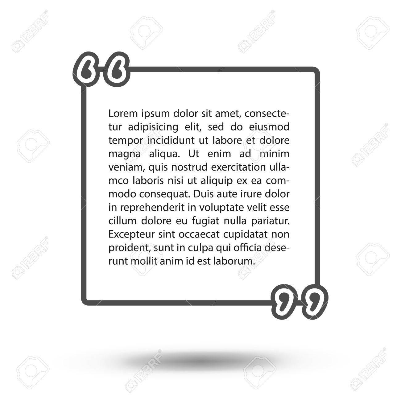 Citations De Vecteur Modèle Citation Modèle Vierge Modèle Vide