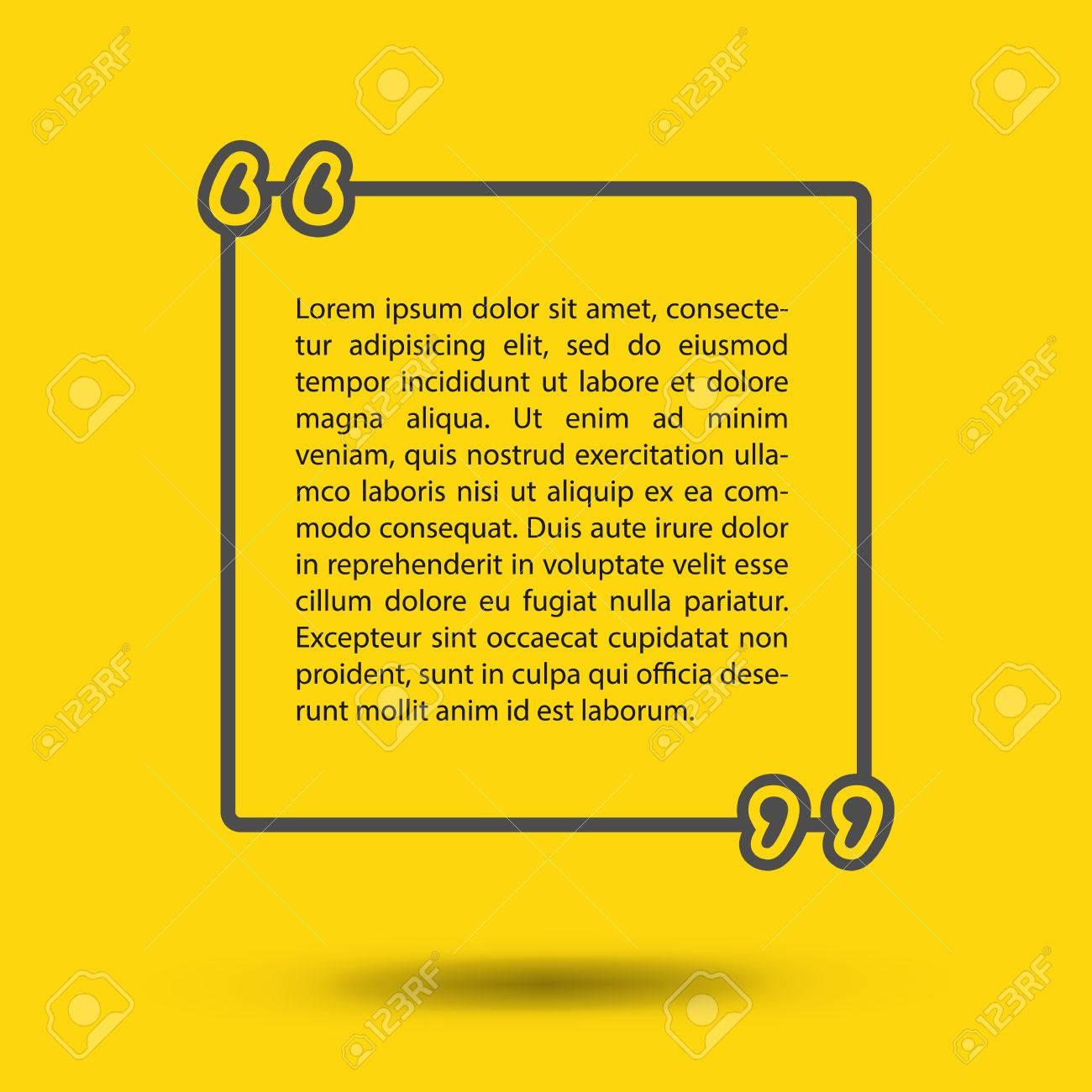 Citation Modele Vierge Vide De Carte Visite Feuille Papier Des Informations Du Texte Imprimer La Conception