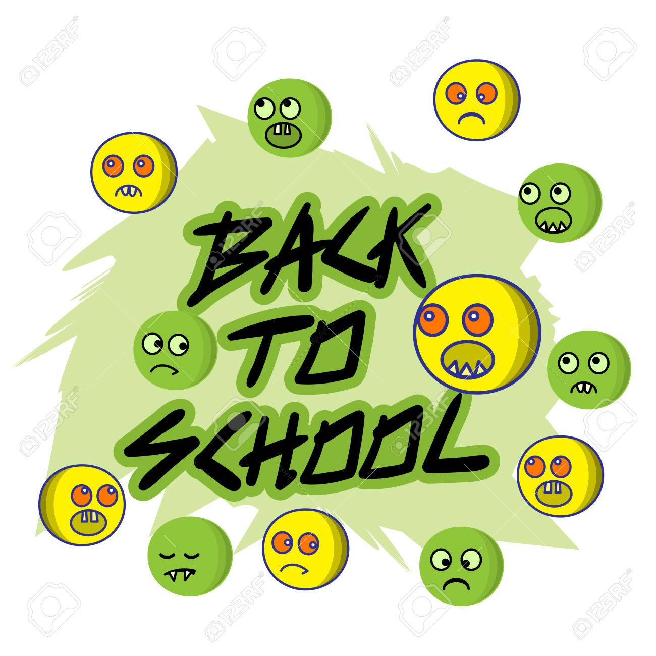 Vector Illustration Of Welcome Back To School Concept Reluctance