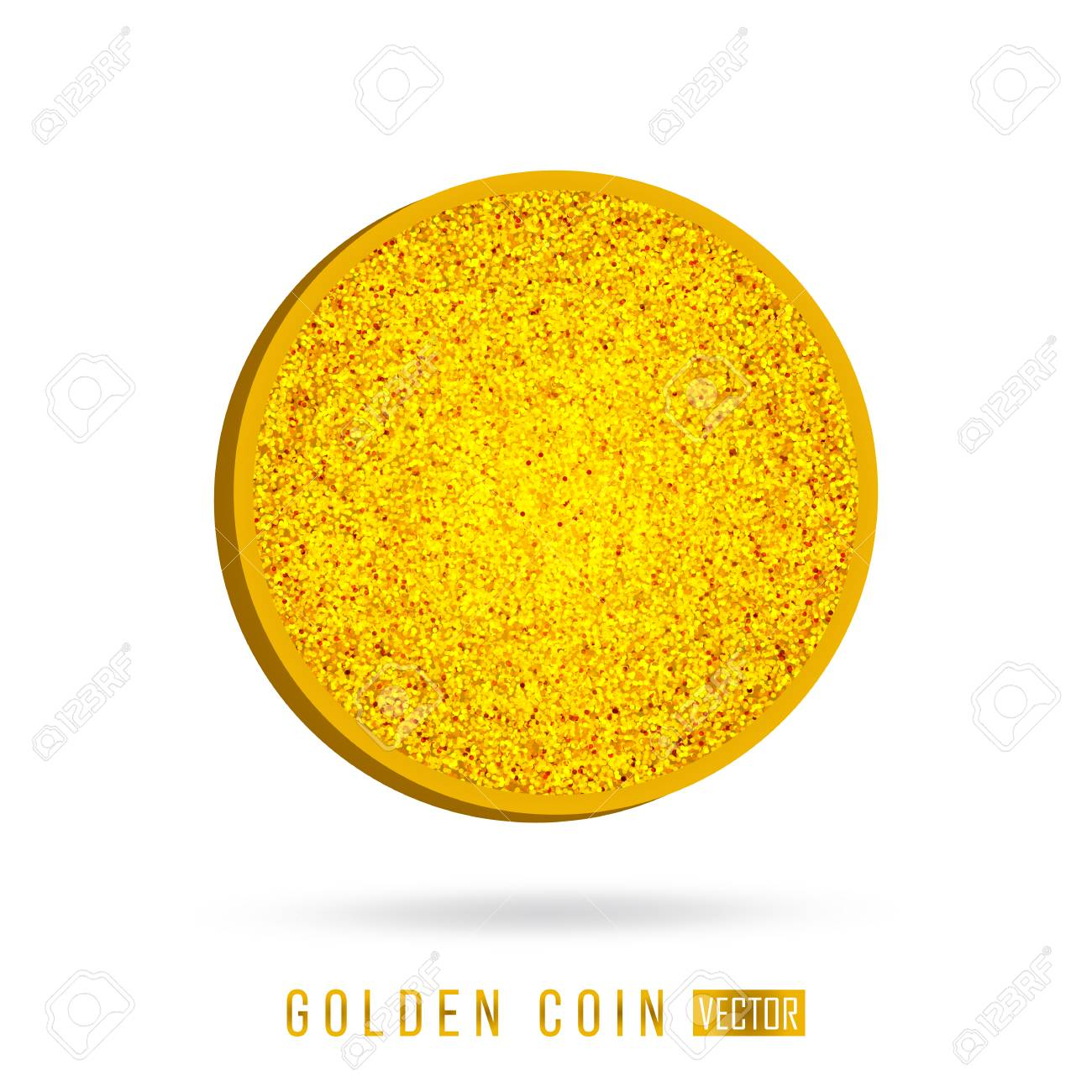 a gold coin vector icon illustration blank design template royalty