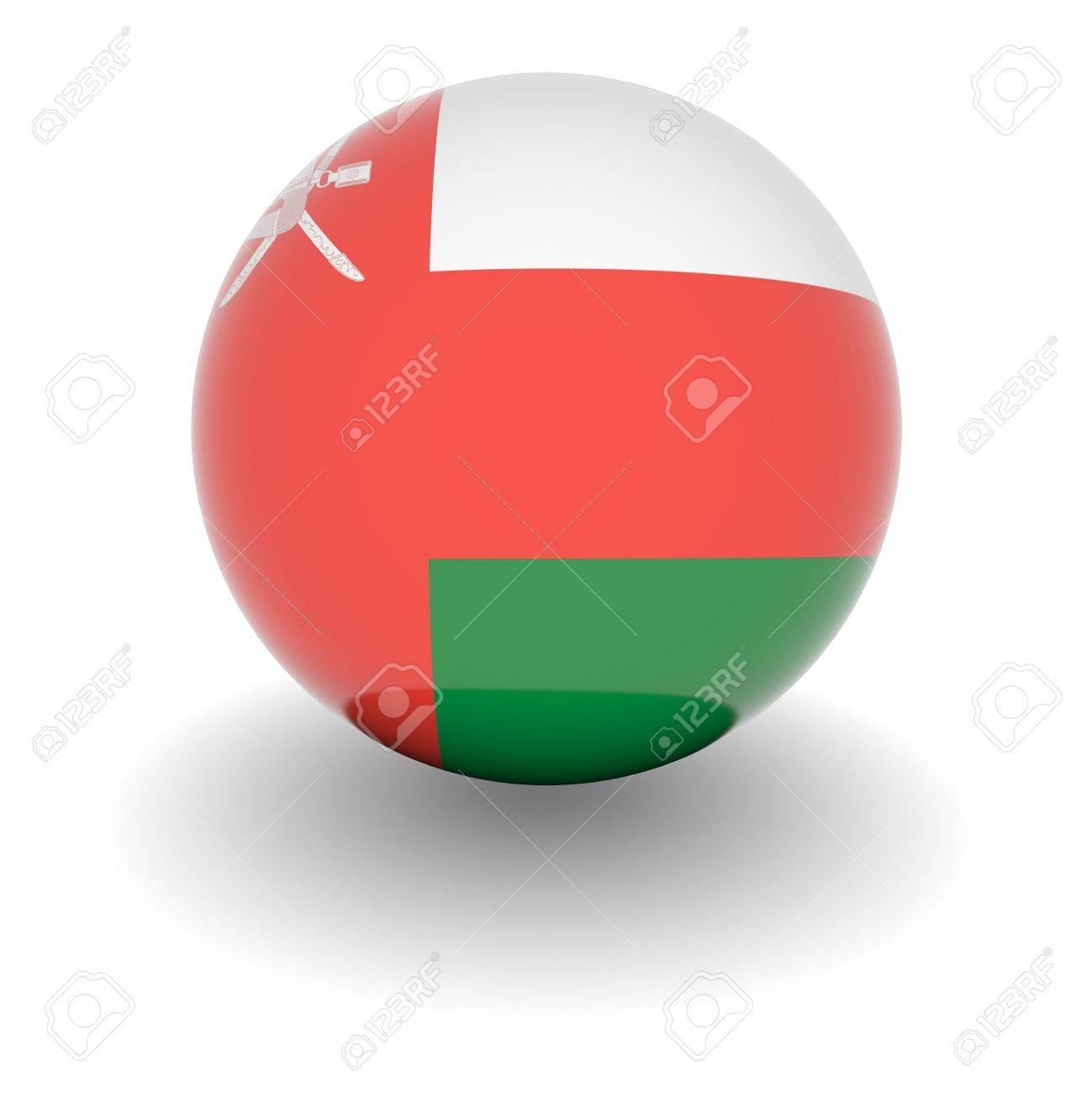 3d Ball With Flag Of Oman High Resolution 3d Render Isolated
