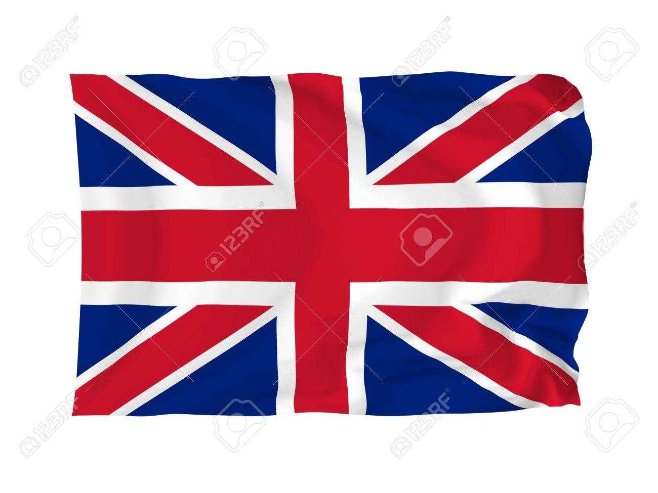 United Kingdom. High resolution Flag series. With fabric texture. Stock Photo - 5793668