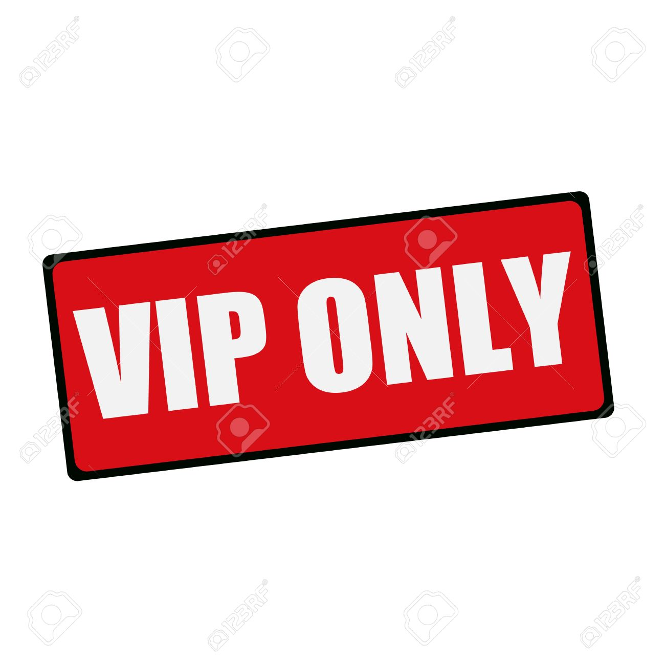 vip only wording on rectangular signs stock photo picture and