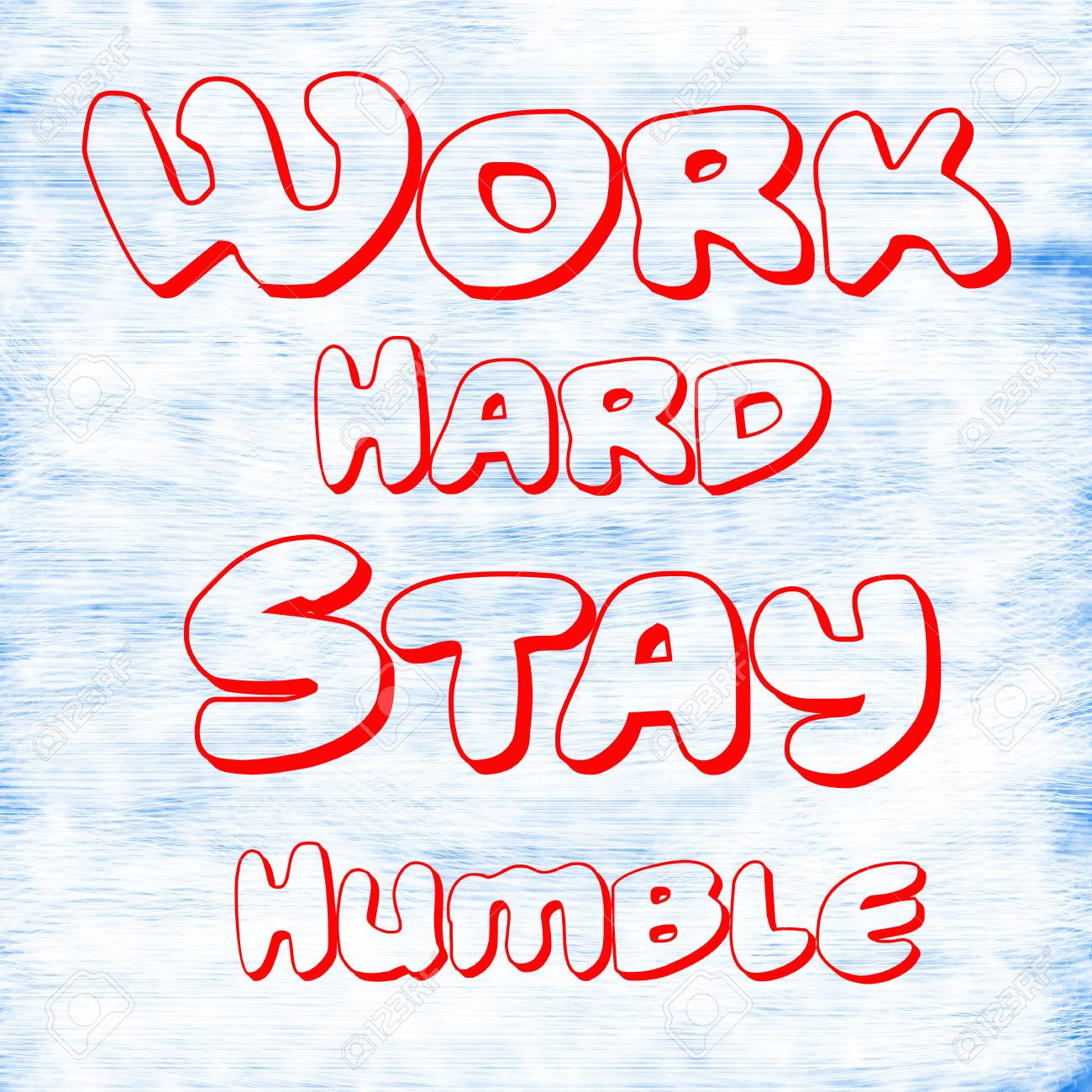 Work Hard Stay Humblecreative Inspiring Motivation Quote Concept